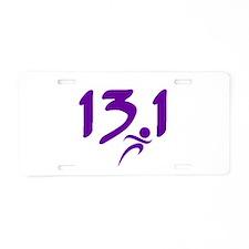 Purple 13.1 half-marathon Aluminum License Plate