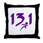 Purple 13.1 half-marathon Throw Pillow