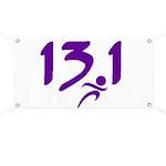 Purple 13.1 half-marathon Banner