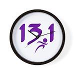 Purple 13.1 half-marathon Wall Clock