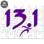 Purple 13.1 half-marathon Puzzle