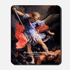Saint Michael the Archangel Quis ut Deus Mousepad