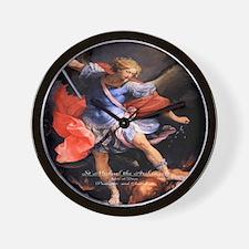 Saint Michael the Archangel Quis ut Deus Wall Cloc