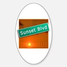 Sunset Boulevard Los Angeles Oval Decal