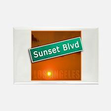 Sunset Boulevard Los Angeles Rectangle Magnet