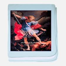 Saint Michael the Archangel Quis ut Deus baby blan