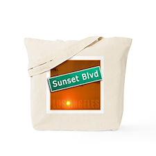 Sunset Boulevard Los Angeles Tote Bag