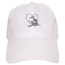 Scottish Deerhounds in Heart Baseball Cap