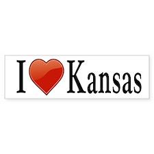 I Love Kansas Car Sticker