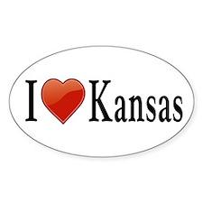 I Love Kansas Decal