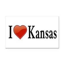 I Love Kansas Rectangle Car Magnet