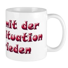 Unzufrieden, red (german) Mug