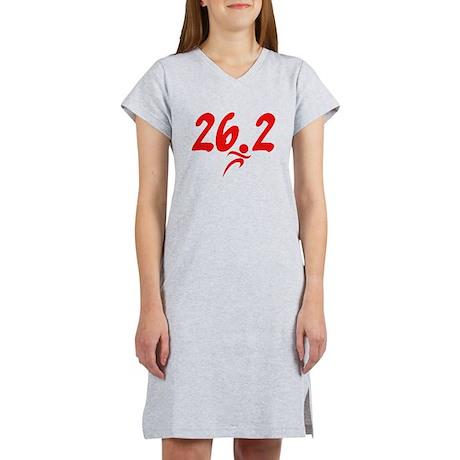 Red 26.2 marathon Women's Nightshirt