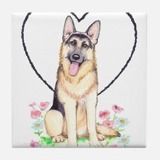 German Shepherd Dog Tile Coaster