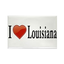 I Love Louisiana Rectangle Magnet (10 pack)