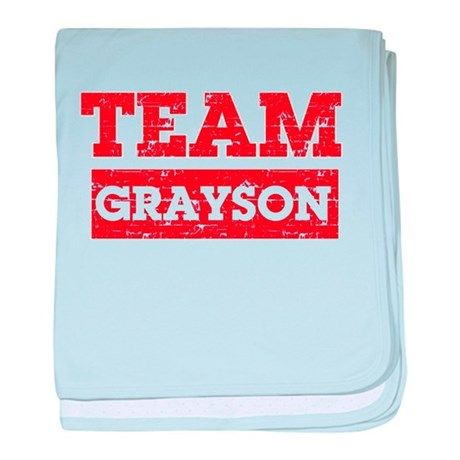 Team Grayson baby blanket