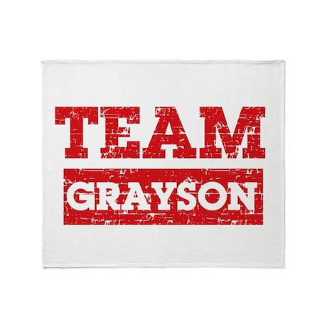 Team Grayson Throw Blanket