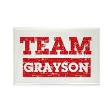 Team Grayson Rectangle Magnet