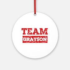 Team Grayson Ornament (Round)