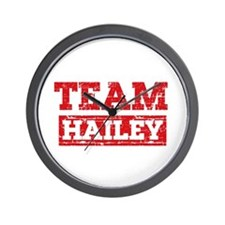 Team Hailey Wall Clock