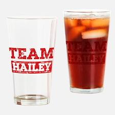 Team Hailey Drinking Glass