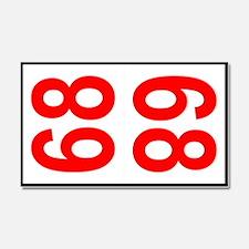 68 Autocross Number Plates Car Magnet 20 x 12