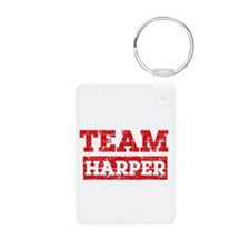Team Harper Aluminum Photo Keychain