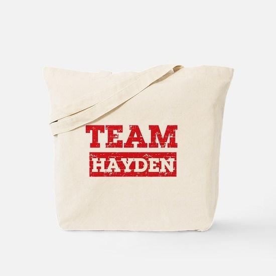 Team Hayden Tote Bag