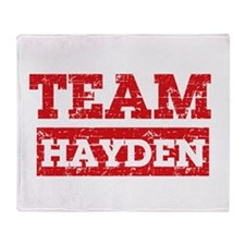 Team Hayden Throw Blanket