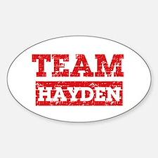 Team Hayden Decal