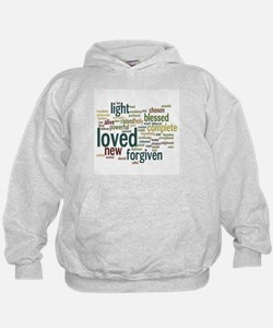 Who I am in Christ Teal Hoodie