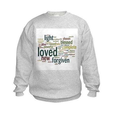 Who I am in Christ Teal Kids Sweatshirt