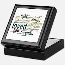 Who I am in Christ Teal Keepsake Box