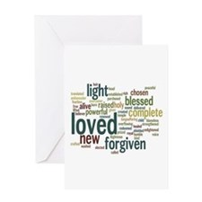 Who I am in Christ Teal Greeting Card