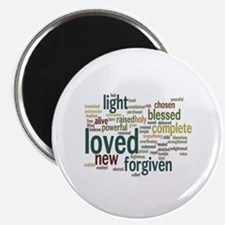 """Who I am in Christ Teal 2.25"""" Magnet (10 pack)"""