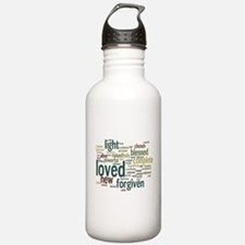 Who I am in Christ Teal Water Bottle