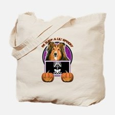 Halloween Just a Lil Spooky Sheltie Tote Bag
