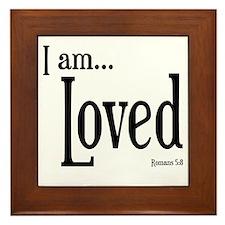 I am Loved Romans 5:8 Framed Tile