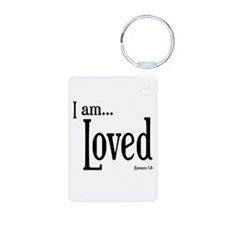 I am Loved Romans 5:8 Keychains