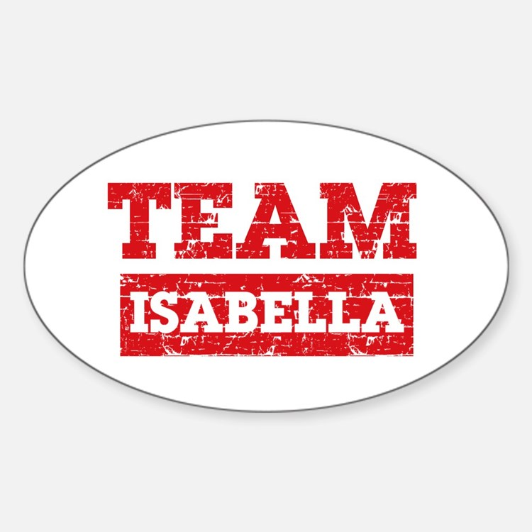 Team Isabella Sticker (Oval)