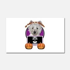 Halloween Just a Lil Spooky Westie Car Magnet 20 x