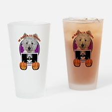 Halloween Just a Lil Spooky Westie Drinking Glass