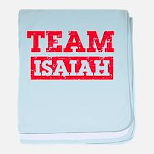 Team Isaiah baby blanket