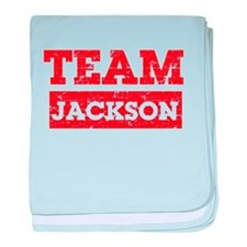 Team Jackson baby blanket