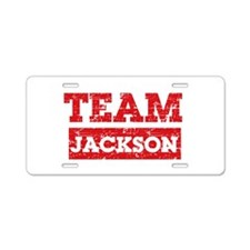 Team Jackson Aluminum License Plate