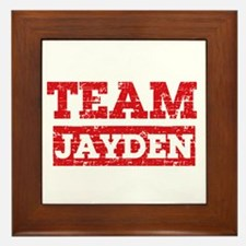 Team Jayden Framed Tile