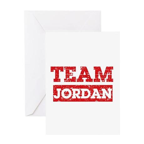 Team Jordan Greeting Card