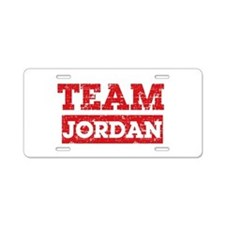 Team Jordan Aluminum License Plate