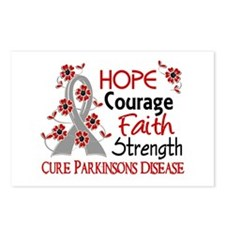 Hope Courage 3 Parkinson's Postcards (Package of 8
