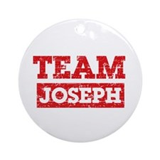 Team Joseph Ornament (Round)